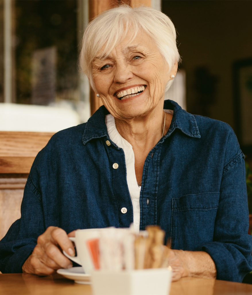 Senior Woman in Cafe